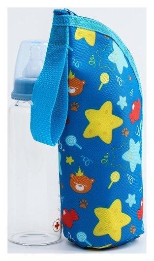 Термосумка для бутылочки Мишка принц, на молнии  Mum&baby