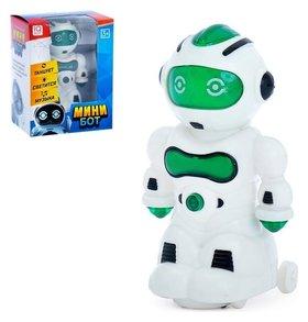 Робот Мини бот световые и звуковые эффекты, работает от батареек