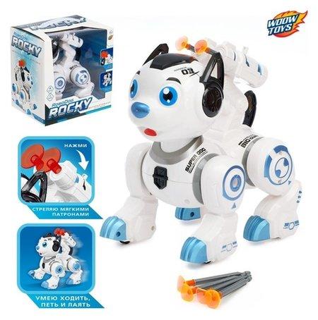 Робот-собака Рокки со световыми эффектами  Woow toys