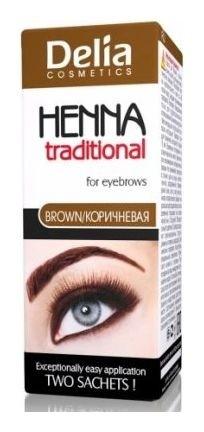Крем-краска для бровей-ресниц Henna tradional  Delia Cosmetics