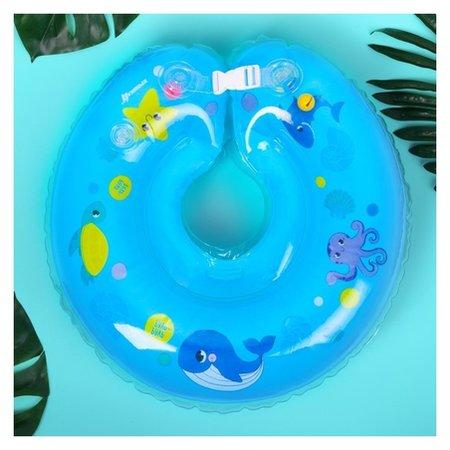 Круг на шею для купания Морские животные, с погремушками, от 1 мес.  Крошка Я