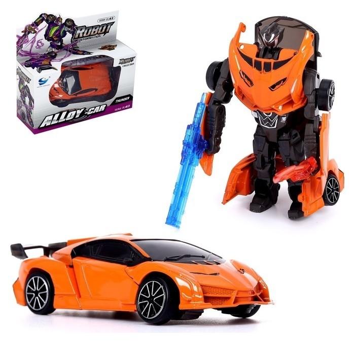 Робот-трансформер Суперкар с металлическим элементами   КНР Игрушки