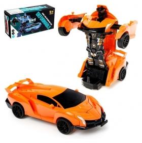 Робот-трансформер инерционный Автобот трансформируется при столкновении