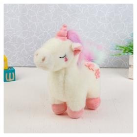 Мягкая игрушка Единорог с цветами