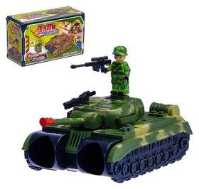 Бинокль Танк с ремешком и солдатиками