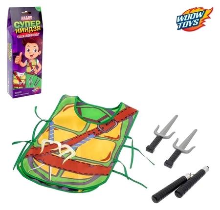 Игровой набор для мальчиков Ниндзя: жилетка, нунчаки, клинки  Woow toys