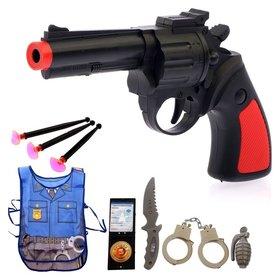 Набор игровой Полицейский 8 предметов + жилет и книжка-раскраска