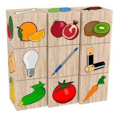 Набор кубиков Съедобное-несъедобное  Краснокамская игрушка