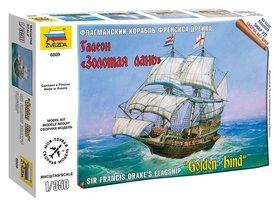 Сборная модель Флагманский корабль Френсиса Дрейка Галеон Золотая Лань