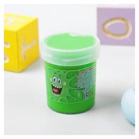 Слайм Плюх зелёный с шариками  Плюх