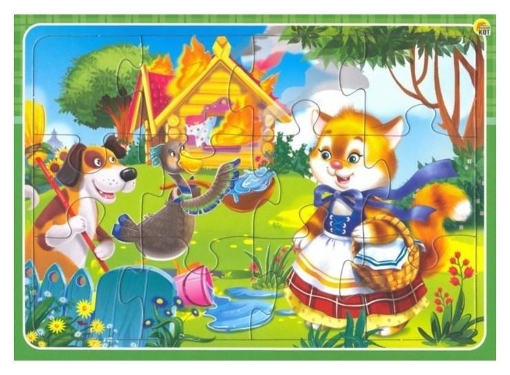 Рамка-пазл Кошкин дом 12 элементов  Рыжий кот
