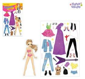Магнитная игра Одень куклу: супер-звезда