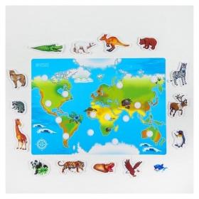 Игра на липучках Веселые липучки Животные Мира