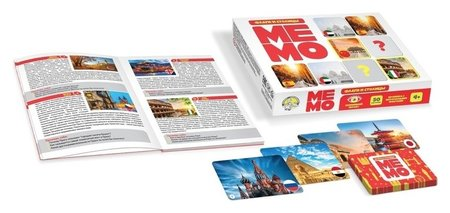 Настольная игра Мемо Флаги и столицы  Десятое королевство