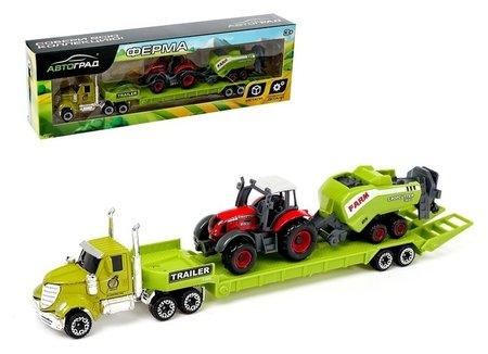 Грузовик металлический «Ферма» с трактором  Автоград