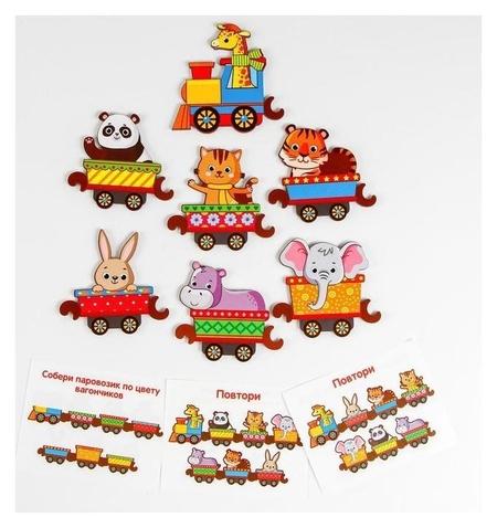 Хоровод Поезд с животными  Woodlandtoys