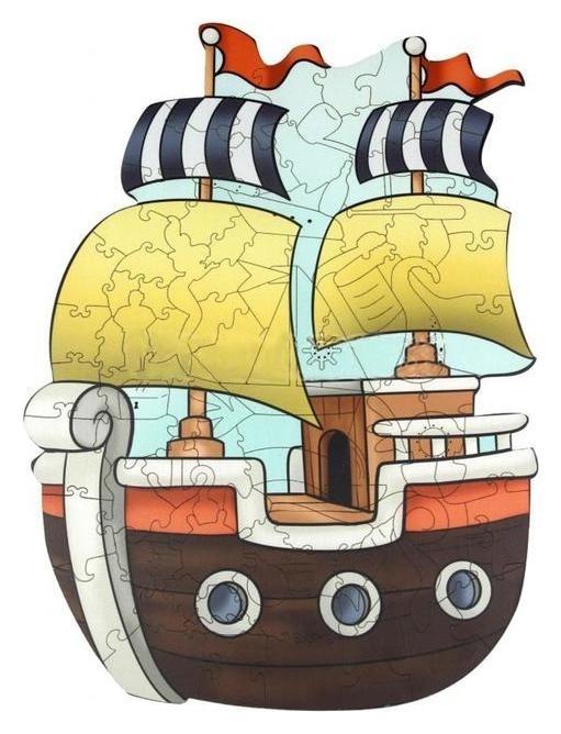 Супер пазл Кораблик  Woodlandtoys