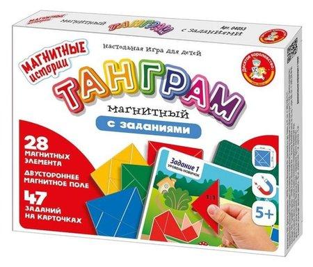 Игра настольная Танграм магнитный с заданиями  Десятое королевство