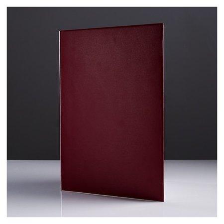 """Папка адресная """"Универсальная"""" бумвинил, мягкая, бордовый, А4  Канцбург"""