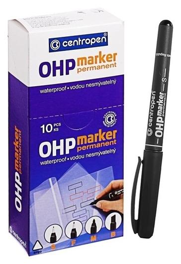 Маркер для OHP, перманентный, 0.3 мм, чёрный  Centropen