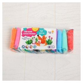 Набор для детской лепки Лёгкий пластилин 12 цветов  Genio Kids