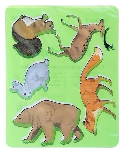 Трафарет для рисования Лесные звери, европодвес  Стамм