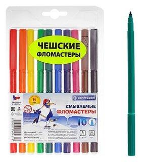 Фломастеры смываемые, 10 цветов  Centropen