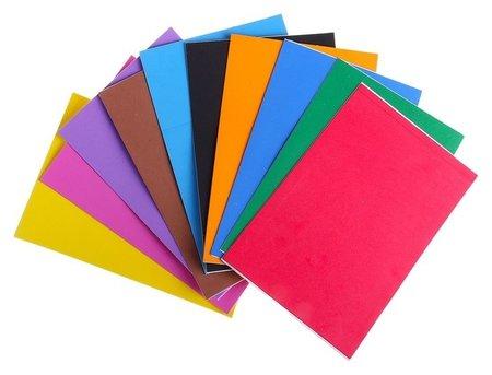 Набор Пенка самоклеящаяся формат А4, 10 листов, 10 цветов, толщина 2 мм  Calligrata