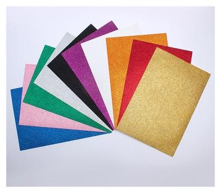 Набор Пенка с блёстками формат А4, 10 листов, 10 цветов, толщина 2 мм  Calligrata