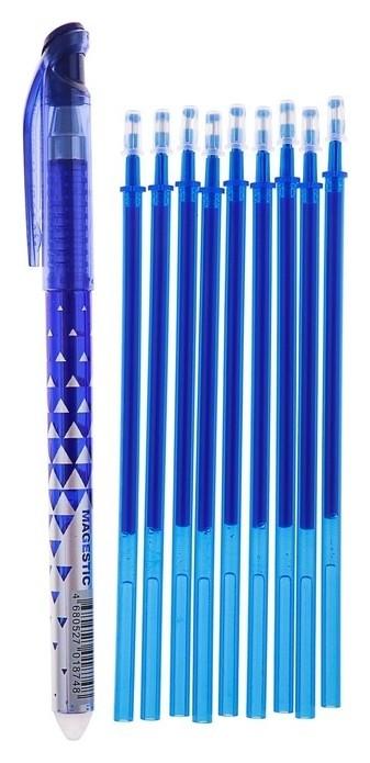 Набор ручка и 9 стержней Пиши-стирай гелевая MAGESTIC  Mazari