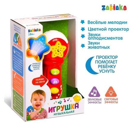 Музыкальная игрушка Микрофон, световые и звуковые эффекты  Zabiaka
