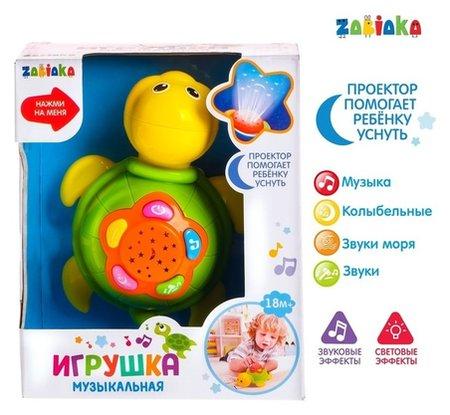 Музыкальная игрушка Черепаха, световые и звуковые эффекты  Zabiaka