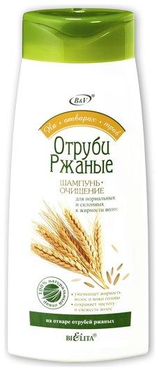 Шампунь-очищение отруби ржаные для нормальных и жирных волос  Белита - Витекс