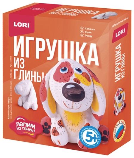 """Набор для изготовления игрушки из глины """"Собачка"""", глина, краски, стек  Lori"""