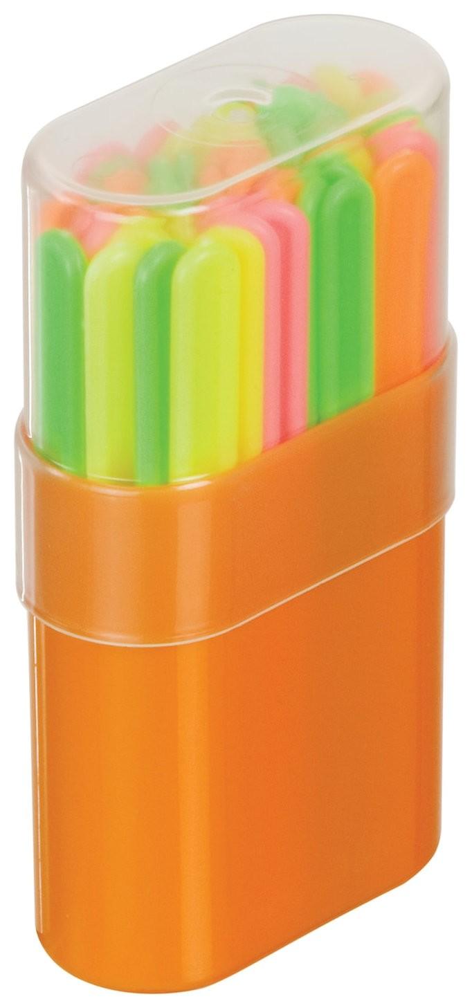 Счетные палочки 50 штук многоцветные, в пластиковом пенале Стамм
