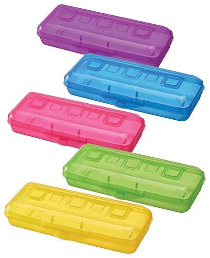 Пенал пластиковый, тонированный, цвет ассорти  Стамм