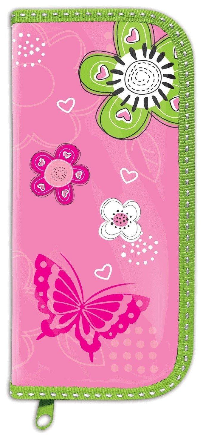 Пенал 1 отделение, Розовые цветы  Brauberg