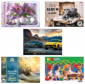 """Альбом для рисования, А4, 40 листов """"Ассорти""""  Hatber"""