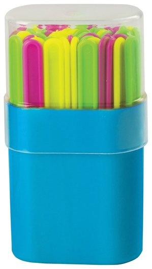 Счетные палочки 50 штук, ассорти, в пластиковом пенале  Пифагор