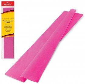 Бумага гофрированная розовая  Brauberg