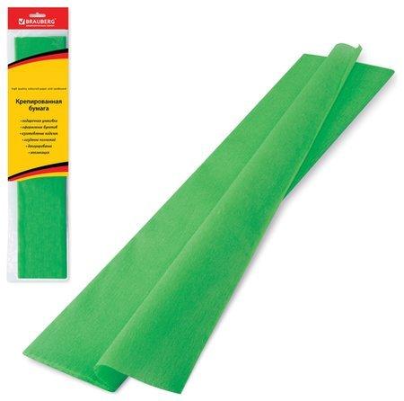 Бумага гофрированная зеленая  Brauberg