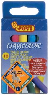 Мел цветной, набор 10 шт., круглый, картонная упаковка с европодвесом  Jovi