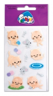 Наклейки Воздушные кошки с европодвесом   Липуня