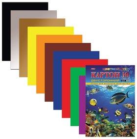 """Картон цветной А4 """"Подводный мир""""  Hatber"""