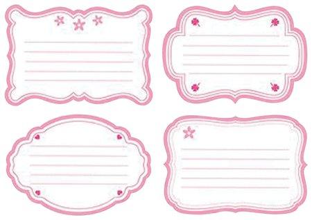 Наклейка для тетрадей, европодвес, комплект 16 шт., Для девочек   Hatber