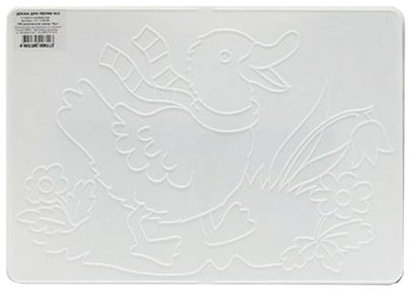 Доска для лепки А4 белая, с рельефным трафаретом Уточка  Луч