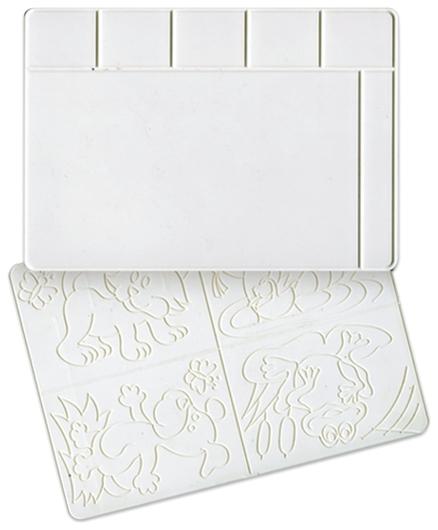 Доска для лепки А4 белая, с рельефным трафаретом  Луч