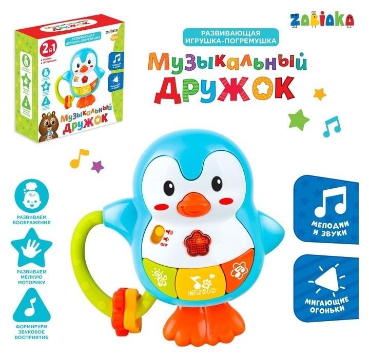 Развивающая игрушка Музыкальный дружок, со светом  Zabiaka