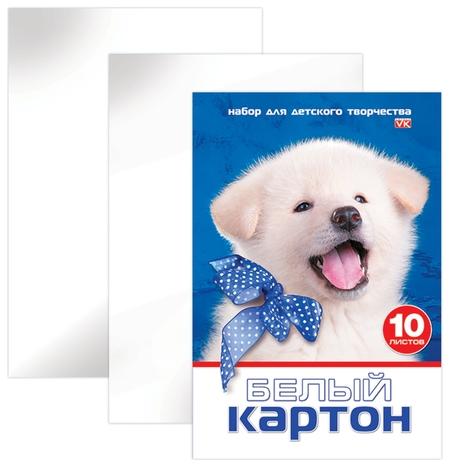 "Картон белый ""Белый щенок""  Hatber"