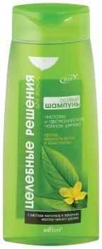 Шампунь против жирности волос Особый - Чистотел и австралийское чайное дерево